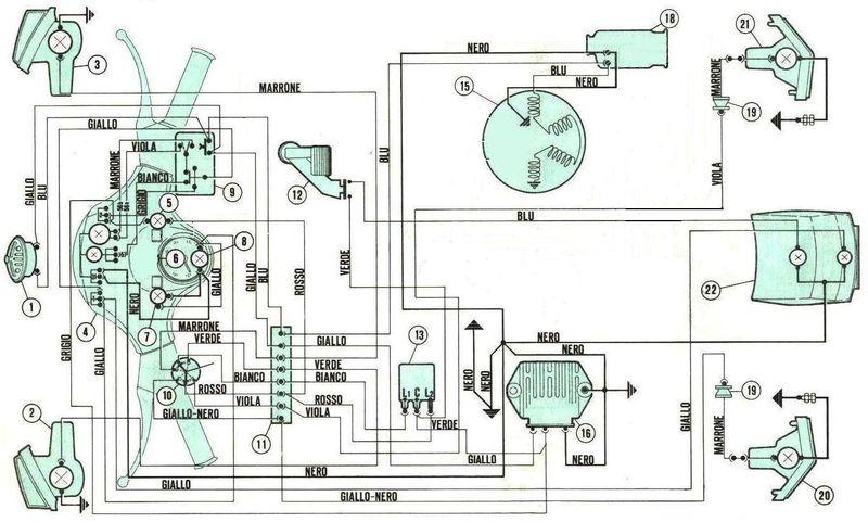 Schemi Cablaggi Elettrici : Vespa e basta facciamo quot luce sull impianto elettrico del px
