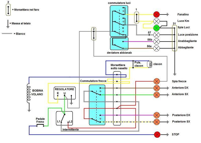 Schema Elettrico Et : Vespa e basta facciamo quot luce sull impianto elettrico del px