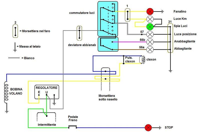 Schema Elettrico Vespa Px 125 : Schema elettrico faro vespa px fare di una mosca