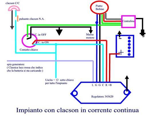 Schema Elettrico Regolatore Di Tensione Ape 50 : Immagine