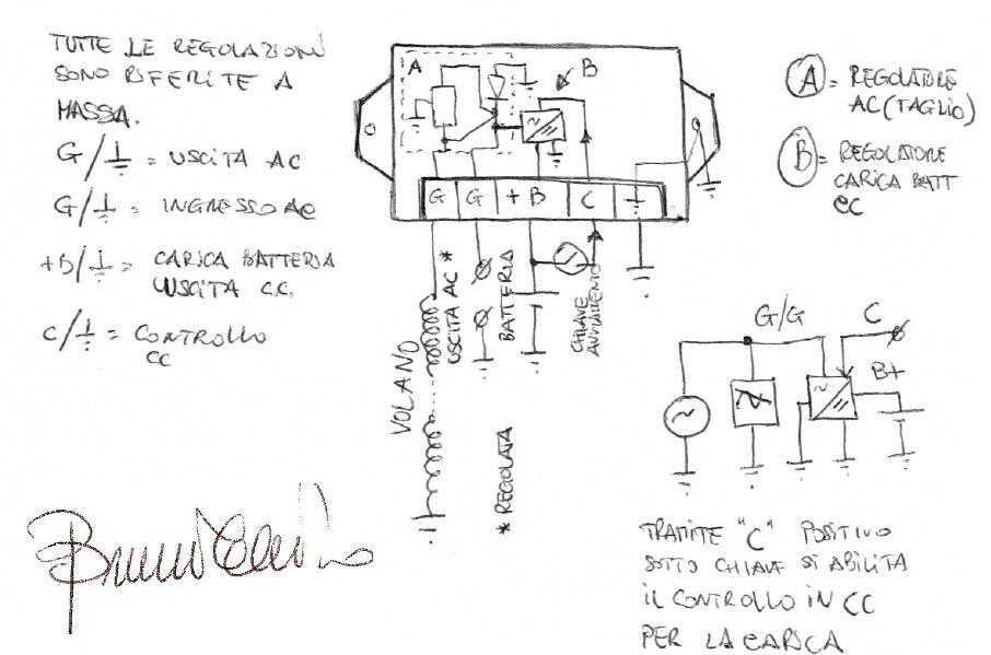 Schema Elettrico Dinamo E Regolatore : Schema impianto elettrico vespa pk xl fare di una mosca