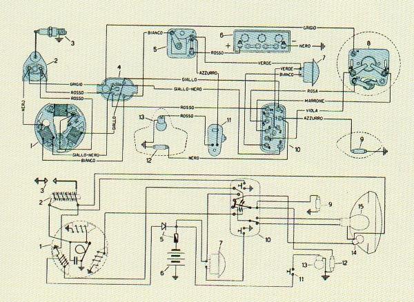 Schema Elettrico Zip Piaggio : Vespa forum tecnica restauro archivio enciclopedia messaggi