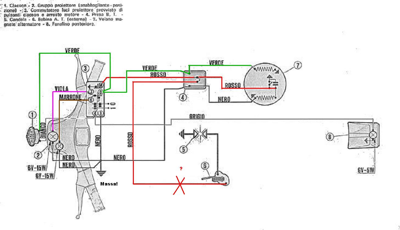 Schema Elettrico Vespa Pk 50 Xl : Schema elettrico vespa s fare di una mosca