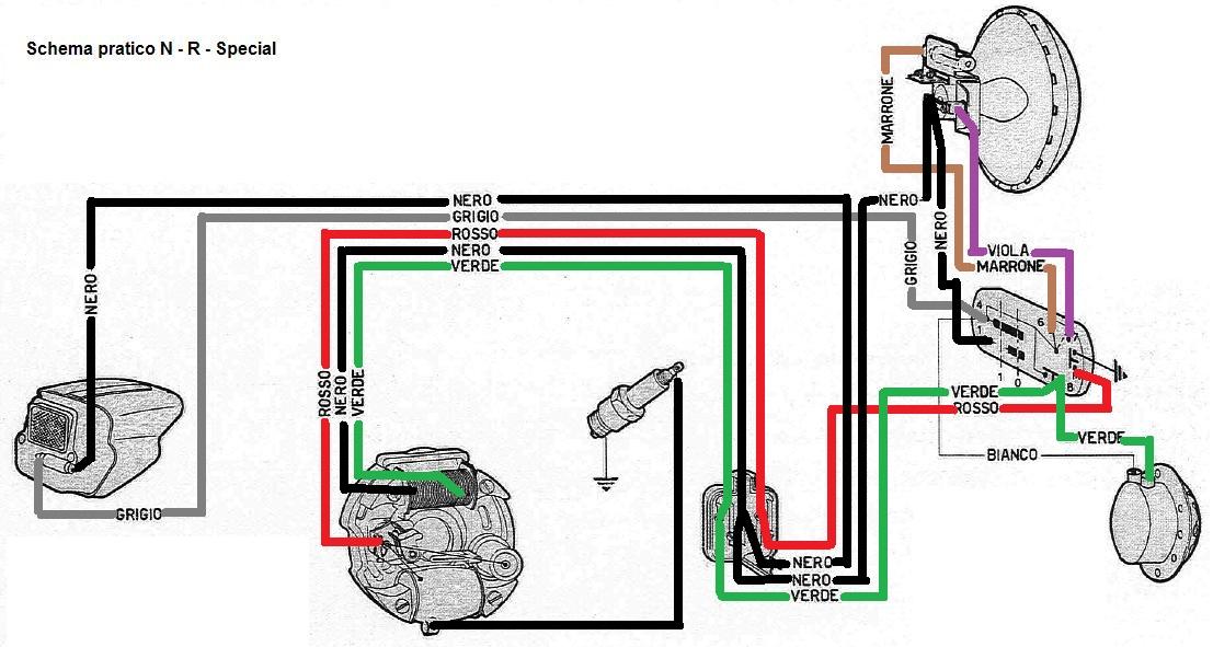 Impianto Elettrico Vespa Pk Xl : Collegamento cavi blocco pk e telaio prima serie tuning