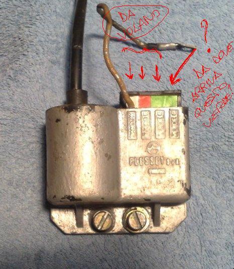 Schema elettrico accensione elettronica casa lambretta
