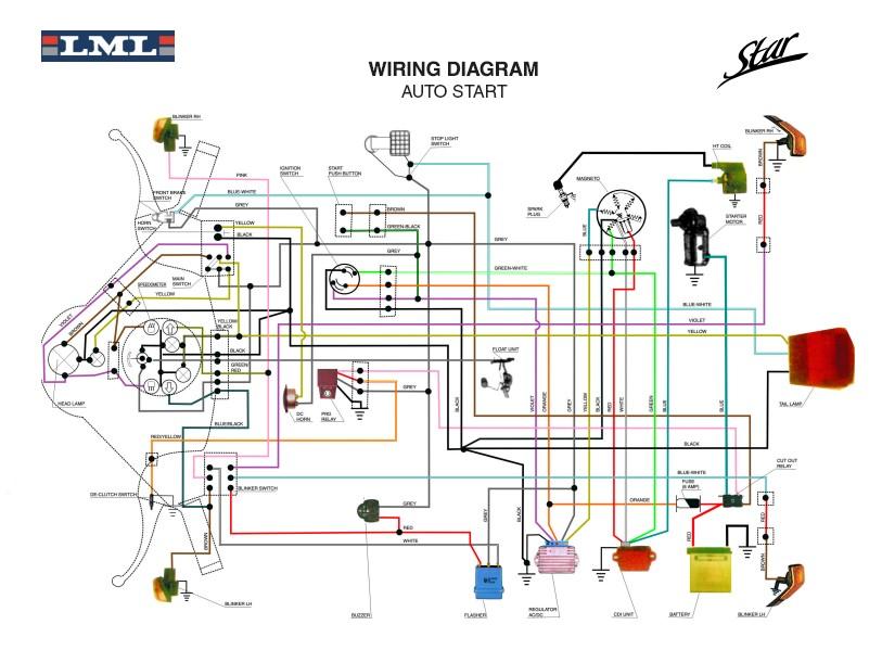 Schema Elettrico Wiring Diagram : Schema impianto elettrico lml star fare di una mosca