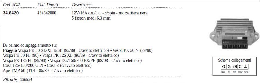 Schema Elettrico Regolatore Di Tensione Ape 50 : I regolatori di tensione forum vespa piaggio lnx