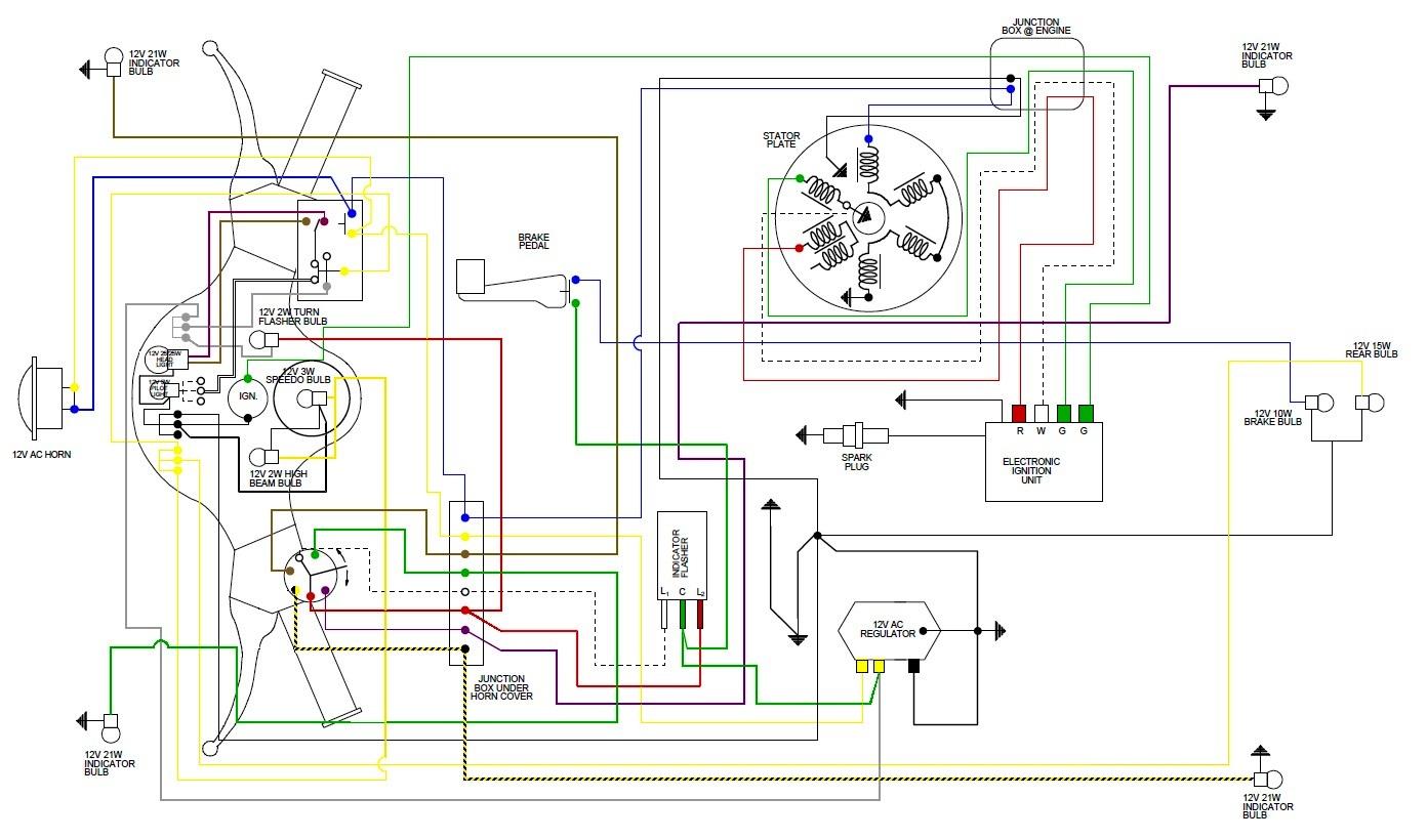 Schema Cablaggio Rete : Il px a batteria modifichiamo tutto limpianto in cc forum vespa