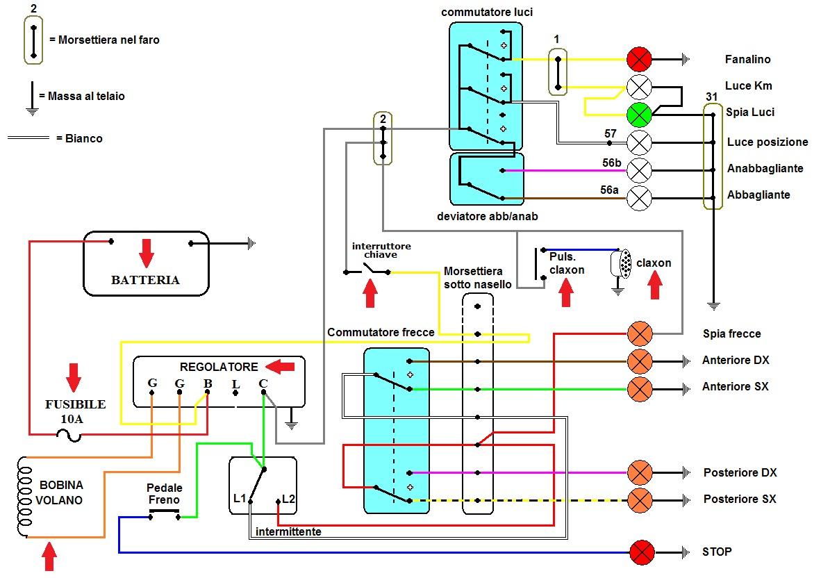 Vespa e basta i vecchi px a batteria - Colori dei fili impianto elettrico casa ...