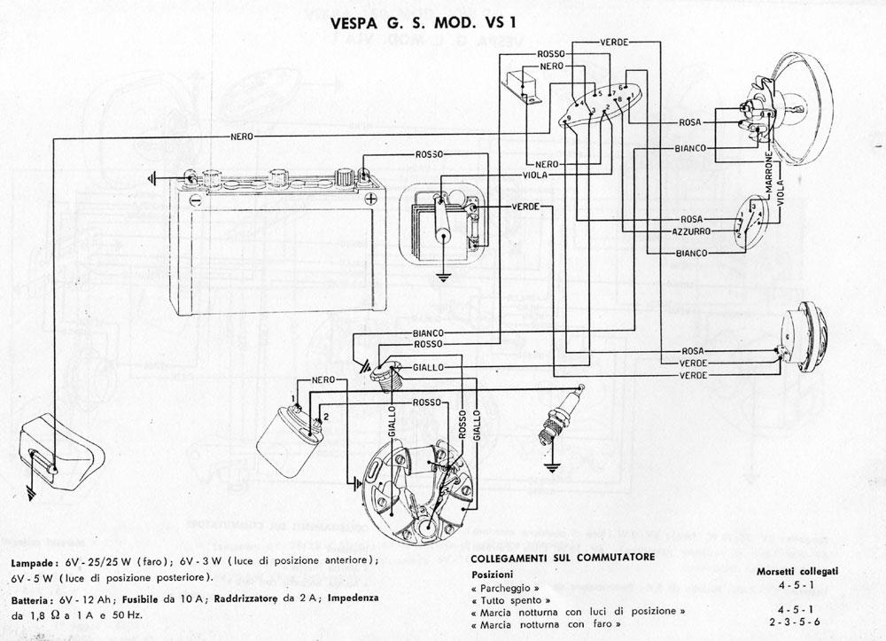Schema Impianto Elettrico Per Esterno : Schema impianto elettrico vespa gs vs fare di una mosca