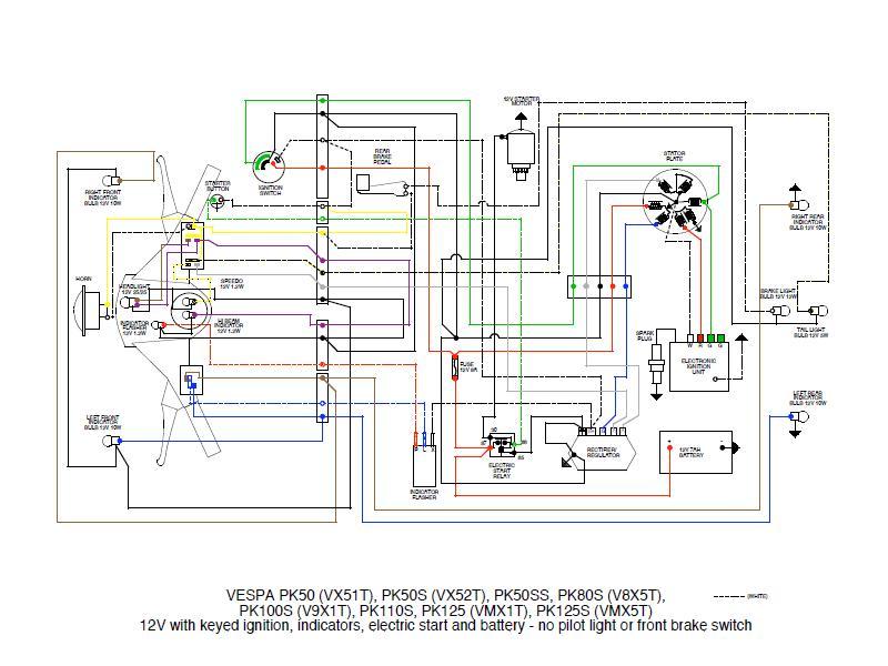 Impianto Elettrico Vespa Pk Xl : Kb