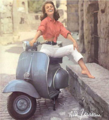 Altre donne in vespa vintage for Vintage stuhle gunstig