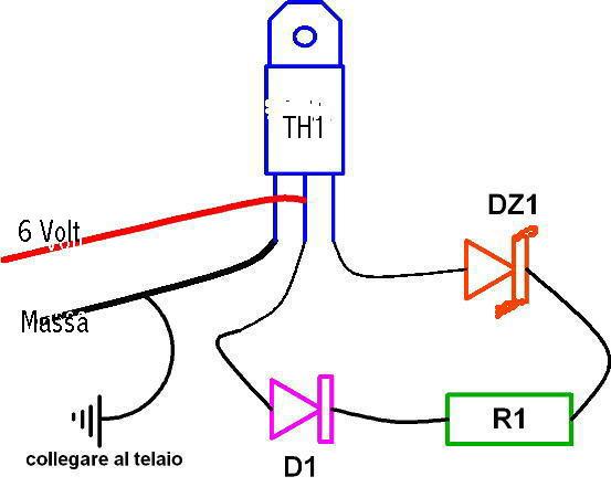 Schema Elettrico Regolatore Di Tensione Ape 50 : Regolatore di tensione volt a c per vespa